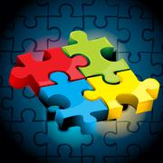 Jigsaw puzzle Stock Illustration