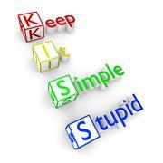KISS acronym Stock Illustration