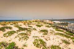 Beach of Faro, Algarve, Portugal Stock Photos