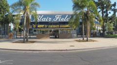 Blair Field And Long Beach State Dirtbags Baseball Home Entrance - Zoom In Stock Footage