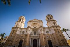 Cathedral of Cadiz, Andalucia, Spain. Stock Photos