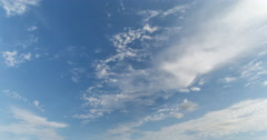 4K Altocumulus and Cumulus Clouds Timelapse looking southeast Stock Footage