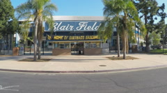 Blair Field And Long Beach State Dirtbags Baseball Home Entrance Stock Footage