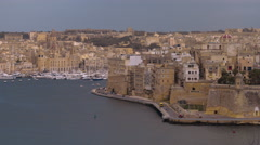 Panorama over a Luxury View in Valletta Malta Stock Footage