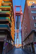 The Bizkaia suspension transporter bridge in Portugalete, Spain - stock photo