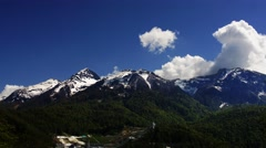 Timelapse of Clouds on the Rosa Khutor Stock Footage