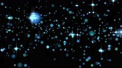 Glowing star particle in random direction  3D render abstract background  ani - stock footage