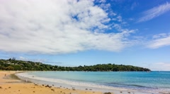 Timelapse of the beautiful paradise beach on the coast of sea bay of Andaman Stock Footage