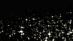Glowing star particle in random direction  3D render abstract background  ani Stock Footage