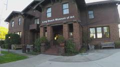 Long Beach Museum Of Art - Long Beach CA Stock Footage
