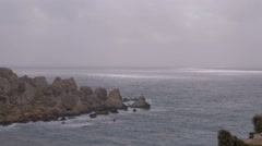 Rocky Shore in Malta Stock Footage