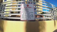 Stop Sign Hazardous Dangerous Suspicious Packages Burbank CA - stock footage