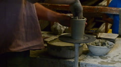 The potter makes a product of clay. Stock Footage