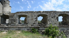 Medieval constructions, fortification remains. Stock Footage