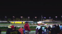 Man Expressing Disappointment With Loss At Horse Race Track - Los Alamitos Stock Footage