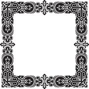 Square vector black thick frame for your design. - stock illustration