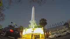 Alex Theater - Retro Movie Cinema With Neon Lights - Glendale CA Stock Footage