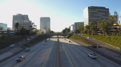 High Angle Time Lapse Highway 134 And Traffic Glendale California Stock Footage