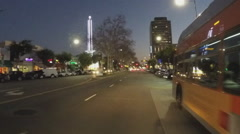 Point Of View Driving Glendale CA At Night- Time Lapse Stock Footage