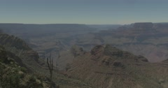 Landscape Panorama of the Grand Canyon Stock Footage