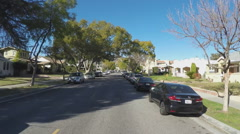 Point Of View Driving Glendale CA Suburban Streets With Speed Bumps- Time Lapse Stock Footage