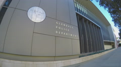 Glendale CA Police Department Headquarters - Pan Stock Footage