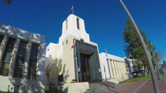 Glendale California City Hall Building - Zoom Stock Footage
