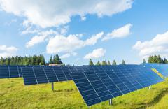 Solar cell installation Stock Photos