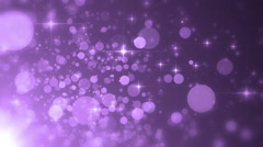 Glittering Violet Particle Background Stock Footage