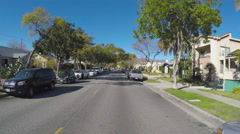 Point Of View Driving Glendale California Neighborhood Street Stock Footage