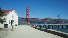 GOLDEN GATE BRIDGE PIER Stock Footage