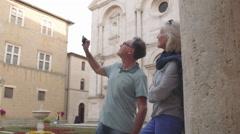 Senior couple siteseeing Stock Footage