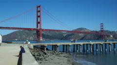 GOLDEN GATE BRIDGE PIER Stock Footage