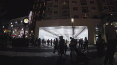 Zoom In Apple Store At Night - Americana At Brand In Glendale CA - stock footage