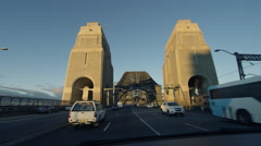 Driving Across Sydney Harbour Bridge In The Morning - Start Stock Footage