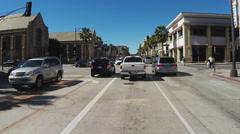 Lane Splitting Motorcyclists On Pasadena CA City Street Stock Footage