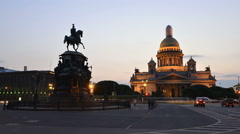 St. Petersburg St. Isaac Cathedral time-lapse photography Stock Footage