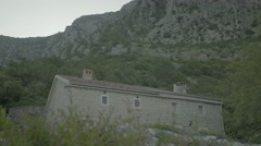 House in the mountains of Montenegro. The Balkans. Architecture Stock Footage