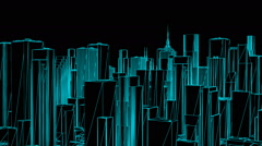 Wire City Rotation Stock Footage