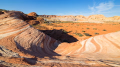 Moco Tracking Time Lapse of Fire Wave at Valley of Fire SP in Nevada -Zoom In- Stock Footage