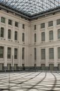 Palace of Communications indoors courtyard, Madrid, Spain - stock photo