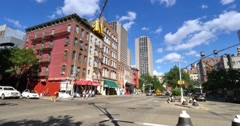 Day Establishing Shot Typical Chelsea Street in Manhattan  	 Stock Footage