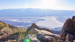 MoCo Tracking Time Lapse of Sunset over Badwater in Death Valley -Zoom Out- Stock Footage