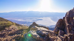 MoCo Tracking Time Lapse of Sunset over Badwater Salt Flat in Death Valley  Stock Footage