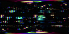 Virtual reality video of a digital video malfunction - 360 VR Glitch 001 - stock footage
