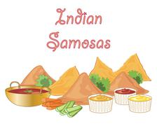 Samosa snacks Stock Illustration