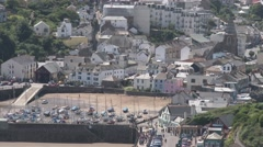 Ilfracombe Town View Stock Footage