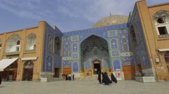 Isfahan Imam Square Lotfollah Mosque Stock Footage