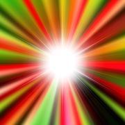 Flare bright shiny star - stock illustration