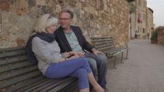 Senior couple on vacation Stock Footage